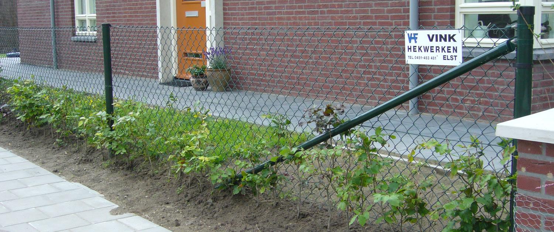 Vink Hekwerken gaashekwerk bij particulieren tuin in Overbetuwe