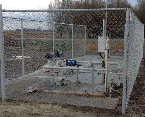 Vink Hekwerken gaashekwerk om gasstation